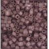 Square Beads 3.4x3.4mm Square Hole Purple Luster Matte